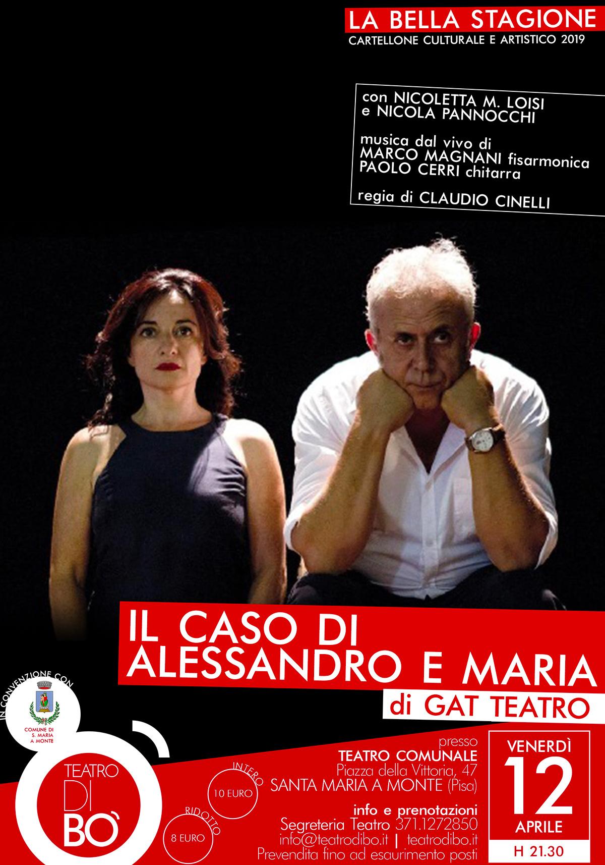 il caso di alessandro e maria 2019 locandina teatro di bo